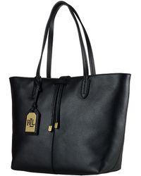 Lauren by Ralph Lauren Crawley Leather Shopper Tote - Lyst