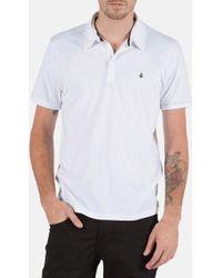 Volcom 'Wowzer' Jersey Polo white - Lyst