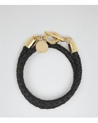 Reiss Toucan Leather And Metal Bracelet - Lyst