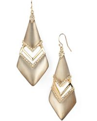 Alexis Bittar 'Lucite' Drop Earrings - Warm Grey - Lyst