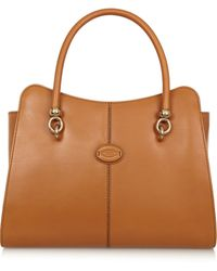 Tod's Sella Small Leather Tote - Lyst