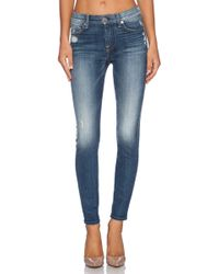 7 For All Mankind The Knee Hole Ankle Skinny - Lyst