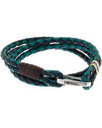 Paul Smith Leather Wrap Bracelet - Lyst