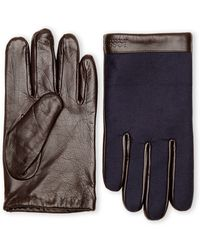 Boss by Hugo Boss Brown Leather Gloves - Lyst