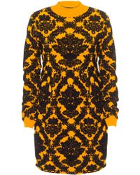 House of Holland Brocade Knit Dress orange - Lyst