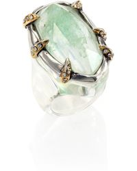 Alexis Bittar Jardin Mystere Lucite & Crystal Crackle Cocktail Ring - Lyst