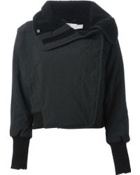 Adidas By Stella Mccartney Panelled Quilted Jacket - Lyst