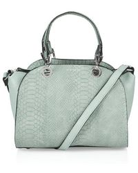 Topshop Mini Snake-Effect Holdall - Lyst