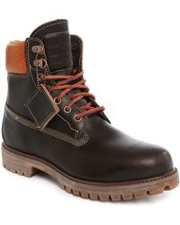 Timberland   6-inch Premium Brown Leather Boots   Lyst