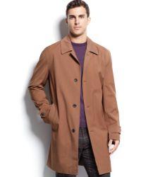 Michael Kors Michael Franklin Single-breasted Rain Coat - Lyst