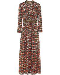 Tory Burch Leane Embellished Metallic Silkblend Maxi Dress - Lyst
