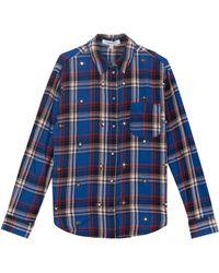 Elizabeth And James Carine Plaid Studded Shirt - Lyst
