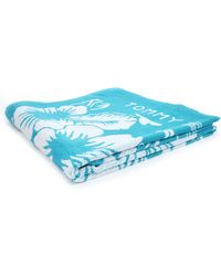 Tommy Hilfiger Turquoise Blue Floral Towel - Lyst