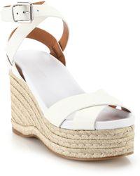 Ralph Lauren Collection Lois Espadrille Leather Wedge Sandals - Lyst