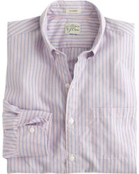 J.Crew Secret Wash Shirt In End-On-End Cotton blue - Lyst