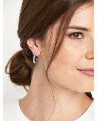 Karen Millen Small Swarovski Crystal Hoop Earrings - Lyst