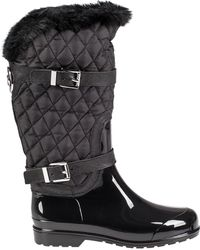 MICHAEL Michael Kors | Fulton Quilted Patent Boots | Lyst