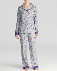 Munki Munki - Passport Stamps Flannel Pyjama Set - Lyst