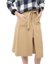 Sea Washed Chino Skirt khaki - Lyst