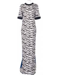 Emanuel Ungaro Zebrine Jersey Dress animal - Lyst
