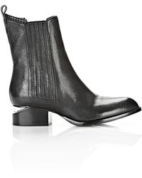Alexander Wang Anouck Boot With Rhodium - Lyst