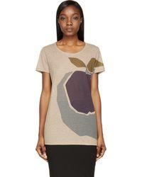 Burberry Prorsum Brown Apple Graphic T_shirt - Lyst