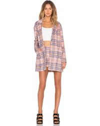 MINKPINK - Not So Plaid Coat - Lyst