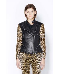 3.1 Phillip Lim Peplum Motorcycle Jacket With Combo Quilted - Lyst