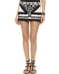 Twelfth Street Cynthia Vincent Tribal Miniskirt - Ivory - Lyst