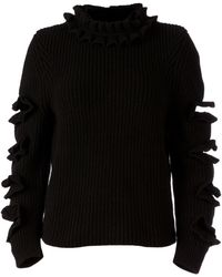 Christopher Kane Ruffle Detail Sweater - Lyst