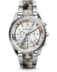 Michael Kors Clarkson Silver-tone Watch - Lyst