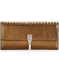 Elizabeth and James - Cynnie Snake-embossed Leather Wallet-on-chain - Lyst