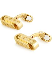 Roberto Coin - Pois Moi 18k Yellow Gold Round Links Cuff Links - Lyst