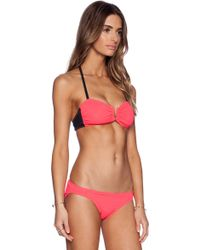 Beth Richards Rio Bikini Top red - Lyst