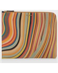 Paul Smith 'Swirl' Leather Ipad Case - Lyst