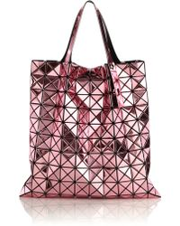 Bao Bao Issey Miyake | Platinum Faux Patent Leather Tote | Lyst