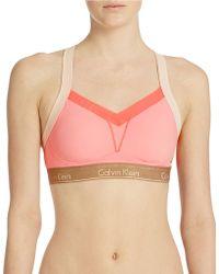 Calvin Klein Colorblock Convertible Sports Bra - Lyst