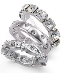 Style & Co. - Silver-tone Crystal Accent Ring Set - Lyst