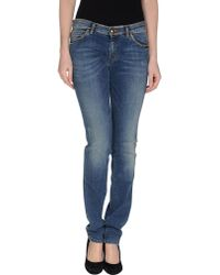 Love Moschino Denim Trousers blue - Lyst
