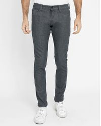 G-Star RAW | Grey Chambray 3301 Deconstructed Super-slim Jeans | Lyst
