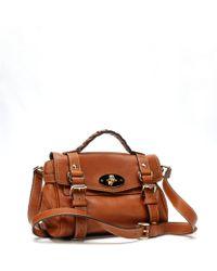 Mulberry Oak-soft Gold Leather Alexa Mini Convertible Satchel - Lyst