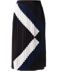 Tibi Pleated Arrow Skirt - Lyst