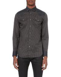 Diesel S-Sulro Striped Slim-Fit Shirt - For Men black - Lyst