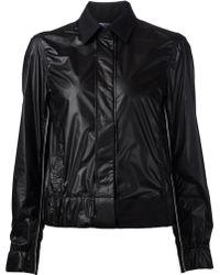 Paco Rabanne High Shine Paneled Jacket - Lyst