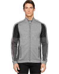 Calvin Klein Ck Premium Colorblocked Full-Zip Slim-Fit Jacket gray - Lyst