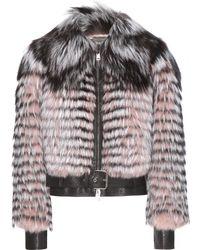 Alexander McQueen Fox Fur Jacket - Lyst