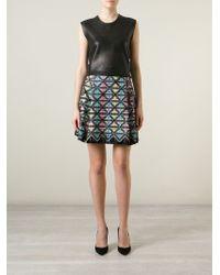 Marco De Vincenzo Embellished Embroidered Flared Skirt - Lyst