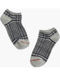 Madewell 1937 Plaid Anklet Socks - Lyst