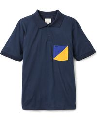 Band Of Outsiders Split Pocket Pique Polo - Lyst