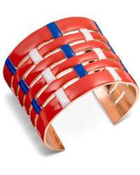 Tory Burch Multi-Color Woven Cuff - Lyst